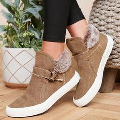 Femmes Toile Talon plat Chaussures plates avec Boucle chaussures