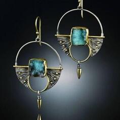 Oval Alloy With Arrow Women's Earrings