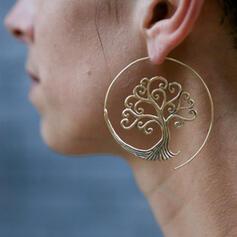 Simple Arbre de vie Alliage Femmes Boucles d'oreilles 2 PCS