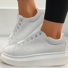 Femmes Microfibre Talon plat Chaussures plates Low Top avec Dentelle chaussures