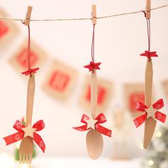 Noël joyeux Noël Pendaison En bois Ornements suspendus Ornements de noël