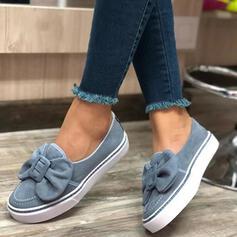 Femmes Suède Talon plat Chaussures plates avec Bowknot chaussures