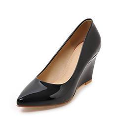 Femmes Cuir verni Talon compensé Bout fermé Compensée avec Autres chaussures