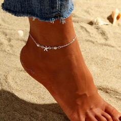 Simple Refroidir Alliage avec Étoile Bracelets de cheville