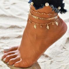 Le plus chaud Alliage avec Feuille Bijoux de plage Bracelets de cheville (Lot de 3)