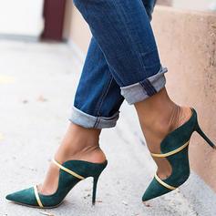 Femmes PU Talon stiletto Escarpins Chaussons avec Boucle chaussures