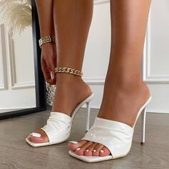Femmes PU Talon stiletto Sandales Escarpins Bout carré avec Autres chaussures