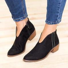 Femmes Suède Talon bottier Bottines Bout pointu avec Autres chaussures
