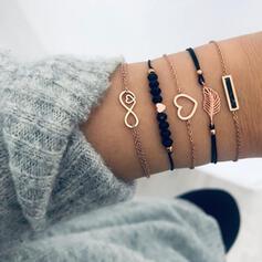 Unique Exquis élégant Alliage Parures Bracelets Bijoux de plage (Ensemble de 5 paires)