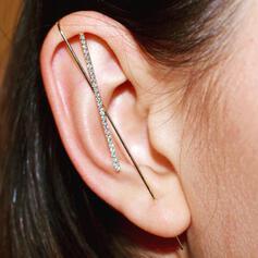 Brillant À la mode Simple Alliage Strass Femmes Boucles d'oreilles