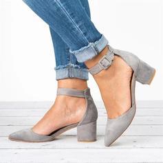 Femmes PU Talon stiletto Escarpins Bout fermé avec Boucle chaussures