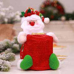 Noël joyeux Noël Bonhomme de neige Père Noël Sac cadeau Tissu non tissé Sacs Apple Sacs à bonbons