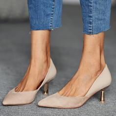 Women's PU Cone Heel Pumps Heels With Splice Color shoes