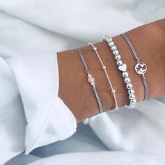 À la mode Refroidir Alliage Bracelets (Lot de 4 pièces)