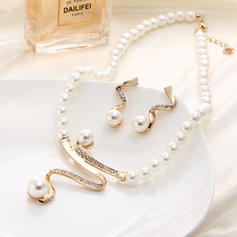 Style Classique Alliage De faux pearl avec Perle d'imitation Dames Parures