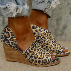 Women's Suede Wedge Heel Wedges Peep Toe shoes