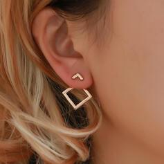 élégant Simple Alliage Boucles d'oreilles (Lot de 2)