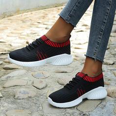 Femmes Mesh Talon plat Chaussures plates avec Couleur d'épissure chaussures