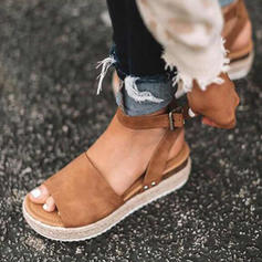 Leatherette Flat Heel Sandals Flats Platform Peep Toe With Others shoes