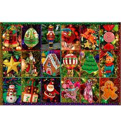 Noël Noël Carte Papier Ornements de noël Puzzle