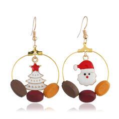 Noël Bonhomme de neige Alliage Boucles d'oreilles 2 PCS