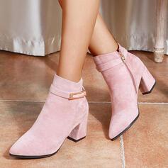 Femmes PU Talon bottier Bottines Bout pointu avec Boucle Zip Autres chaussures