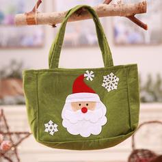 Noël joyeux Noël Bonhomme de neige Renne Père Noël Sac cadeau Tissu non tissé Sacs Apple Sacs à bonbons