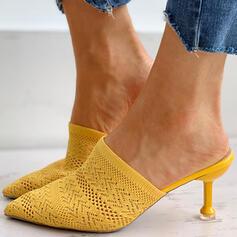 Femmes Flying Weave Talon stiletto Escarpins Bout pointu avec Ouvertes chaussures