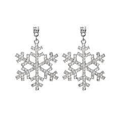 Flocon de neige Alliage Strass Femmes Boucles d'oreilles 2 PCS