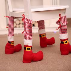 Noël joyeux Noël Tissu non tissé Housse de chaise Couverture de pied de chaise