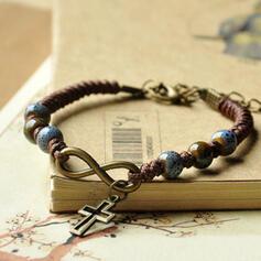 Unique Romantic Ceramic Leather Women's Ladies' Unisex Girl's Bracelets Charm Bracelets Bolo Bracelets