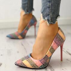 Femmes PU Talon stiletto Bout fermé avec Autres chaussures