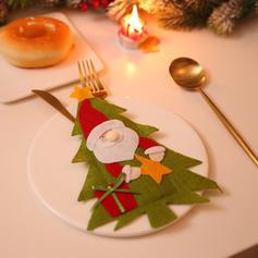 Noël joyeux Noël Bonhomme de neige Renne Père Noël Tissu non tissé Couverture de vaisselle