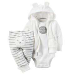 3 pièces bébé Dessin Animé Striped Coton Définir La Taille