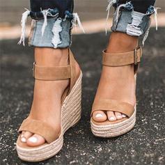Suède Talon compensé Sandales Compensée avec Autres chaussures