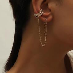 élégant Lien et chaîne Alliage Boucles d'oreilles