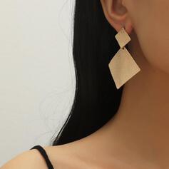 Style Classique Géométrique Alliage Boucles d'oreilles (Lot de 2)