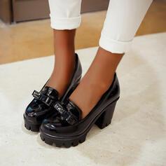 Femmes PU Talon bottier Escarpins bout rond avec Bowknot chaussures