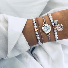À la mode Style Classique Alliage avec Glands Parures Bracelets 4 PIÈCES