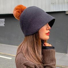 Women's Elegant/Charming/Artistic Felt With Flax Fedora Hats