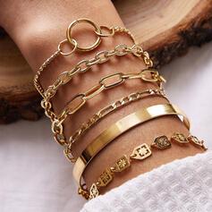Charme Lien et chaîne Alliage Parures Bracelets 6 PCS