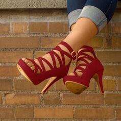 Femmes PU Talon stiletto Sandales avec Boucle chaussures