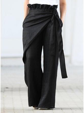 Patchwork Grande taille Bowknot Longue Décontractée Élégante Pantalon