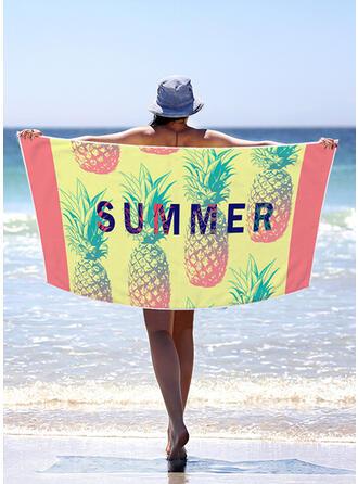 Color Block/Bohême/Feuilles/Colorful Poids léger/Multi-fonctionnel/Sans sable/Séchage rapide serviette de plage