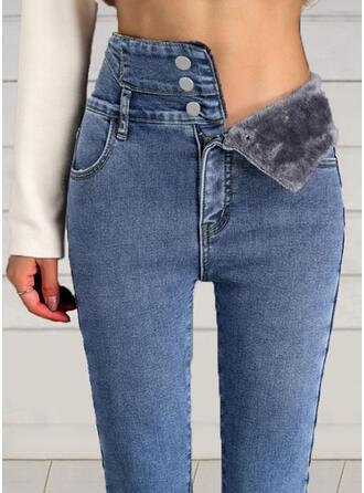Froncé Élégante Sexy Jeans