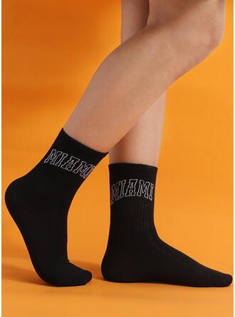 Letter Crew Socks Socks