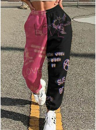Patchwork Imprimé Décontractée Sportif Pantalons de détente