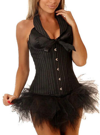 Polyester De chinlon Striped Corset