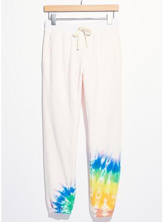 Imprimé Décontractée Sportif Pantalons de détente