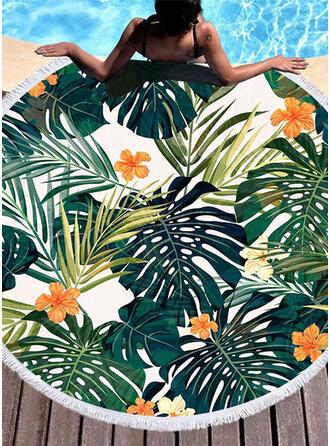 Floral attrayant/mode/frais serviette de plage